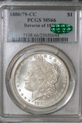 1880over79-CC $1 PCGS MS66 25050044 CAC REV