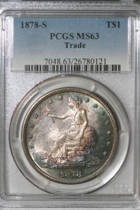 1878-S T$1 PCGS MS63 26780121