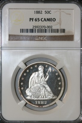 1882 50C NGC PF65 CAMEO 2592370-002