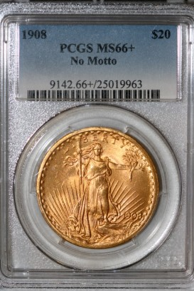 1908 $20 PCGS MS66+ 25019963