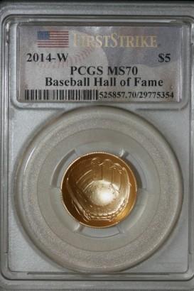 2014-W $5 PCGS MS70 29775354