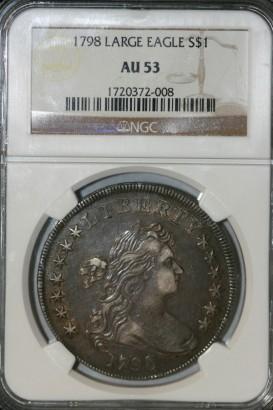 1798 $1 NGC AU53 1720372-008