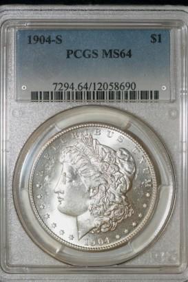 1904 S $ PCGS MS64 12058690