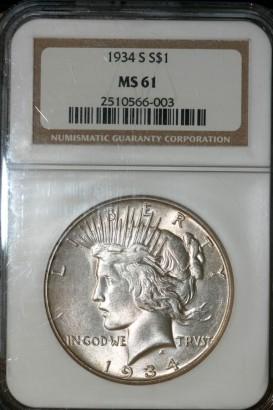 1934 S $ NGC MS61 2510566-003