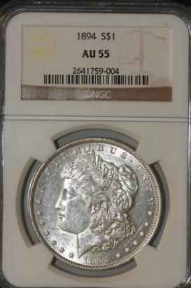 1894 $ AU55 NGC 2641759-004