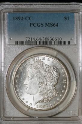 1892-CC $1 PCGS MS64 30836610