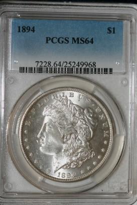 1894 $1 PCGS MS64 25249968