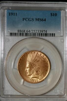 1911 $10 PCGS MS64 25233974