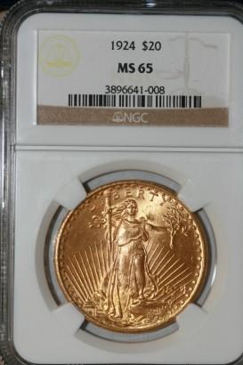1924 $20 NGC MS65 3896641-008