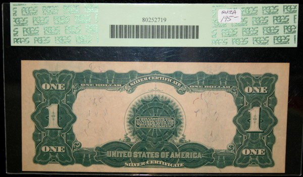 1899 $1 Silver Certificate PCGS Apparent XF45 Paper Toned REV ...