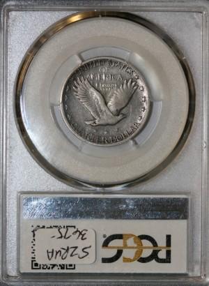 1918 over 17-S 25C PCGS F12 CAC 08311630 REV