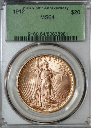 1912 $20 PCGS MS64 80638981