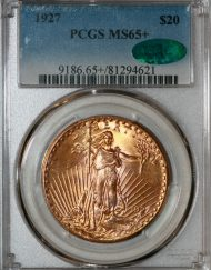 1927 $20 PCGS MS65+ CAC 81294621