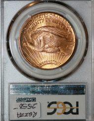 1927 $20 PCGS MS65+ CAC 81294621 REV