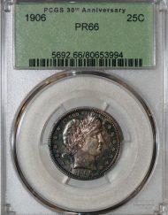 1906 25C PCGS PR66 80653994
