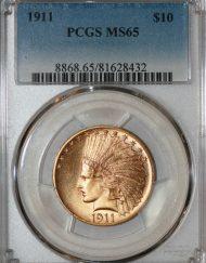 1911 $10 PCGS MS65 81628432